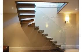 interior glass railing wood stair kit cantilever stairs buy