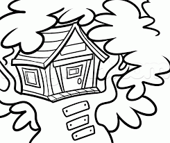 how to draw a treehouse step by step buildings landmarks