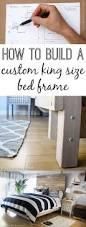 Custom King Headboard How To Build A Custom King Size Bed Frame Via Thinkingcloset Com