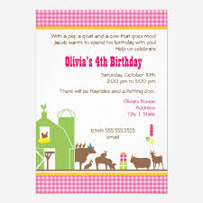 custom farm birthday party invitation invites templates babyfavors4u