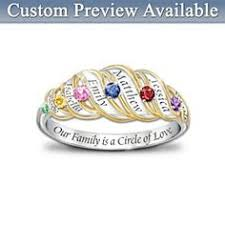 day rings personalized personalized birthstone 14kt gold tone ring personalized