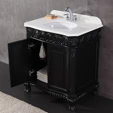 Ove Decors Bathroom Vanities Ove Decors Trent Antique Black 30 In Undermount Single Sink Birch