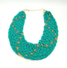 beaded necklace styles images Thick turquoise gold beaded necklace funky little peach jpg