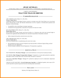 Resume Templates For Truck Drivers 7 Resume For Truck Driver Manager Resume