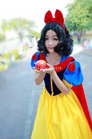 Snow White Halloween Costume Women Fairy Tale Snow White Princess Dress Cosplay Fancy Dress Pannier