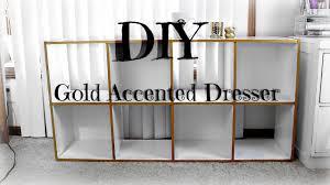 gold dresser diy gold dresser how to accent furniture youtube