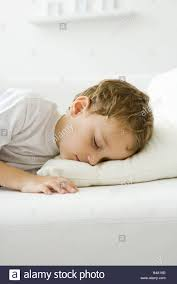Bed Eyes Little Boy Napping On Bed Eyes Closed Stock Photo Royalty Free