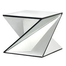 Z Shaped Side Table Stunning Venetian Contemporary Mirrored Twist Side Table Modern