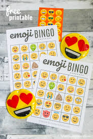 Free Halloween Bingo Cards Printable Free Emoji Bingo Printable Create Craft Love
