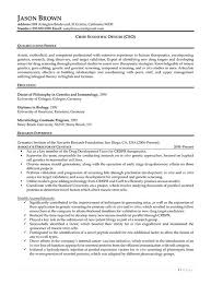 Researcher Resume Sample by Science And Research Resume Examples