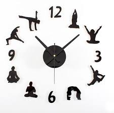 home decor wall clocks creative yoga wall clock