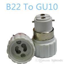 cheap 5x b22 to gu10 adapter converters light sockets l