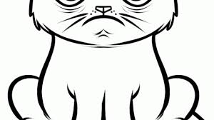 simple cat face drawing images for u003e cute cat face sketches art