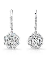 dimond drop rahaminov diamonds diamond cluster drop earrings neiman