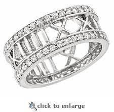 numeral ring style thick sterling silver numeral ring w cz