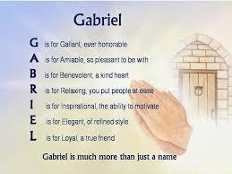 acrostic name poems for boys gabriel