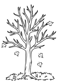 Fall Tree Coloring Page fall tree coloring page free printable coloring pages