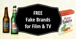 free fake brands and packaging art dept resources