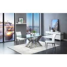 Modern Glass Dining Room Table Modern Glass Dining Table Fpudining