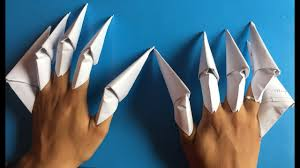 Origami Paper Claws - how to make paper claws easy claws