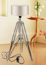 marine home decor spot light brown marine wooden tripod l nautical table l home