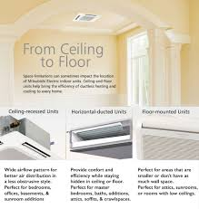 mitsubishi electric cooling and heating mitsubishi ductless systems siegman forced air systems