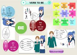 to be verb to be in affirmative and negative sentences to learn