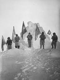 Holding The Flag File Peary Sledge Party And Flags At The Pole Jpg Wikimedia Commons