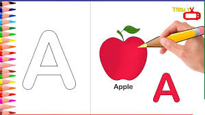 alphabet letter a coloring pages a coloring how to draw apple
