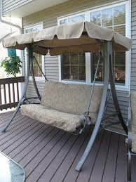 Swings For Patios With Canopy Another Refurbished Swing From Swing Cushion Covers Http Www