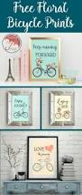 best 25 bicycle decor ideas only on pinterest bike art bicycle free printable floral bicycle wall art