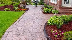 latest concrete walkway design ideas brick pathway design youtube