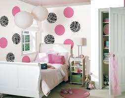 zebra swivel chair bedroom showing white swivel chair and pink wooden desk on