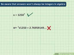 how to learn algebra with pictures wikihow