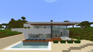 minecraft simple modern safari house villa estate by the sea