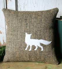 fox home decor jute fox silhouette pillow cover home decor u0026 lighting smokin