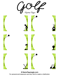 printable name place cards free printable golf name tags the template can also be used for