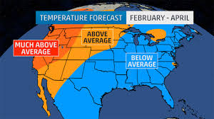 Wisconsin Weather Radar Map february april outlook below average temperatures in the east