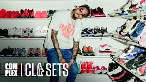 brown collection chris brown shows the most sneaker collection we ve