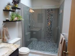 Large Home Decor Accents Large Shower With Large Rectangle Tile And Pebble Accent And Floor