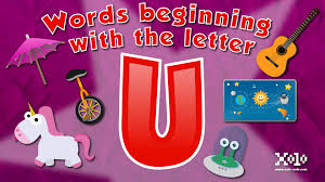 imagenes q inicien con la letra u words that start with the letter u in english for children learn