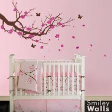 Cherry Blossom Tree Wall Decal For Nursery Artfire Markets