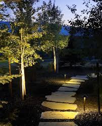 Landscape Lighting Utah - pathway lighting rustic garden salt lake city by landscape
