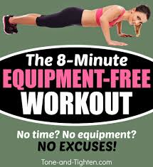 Bedroom Workout No Equipment 8 Minute At Home Total Body Workout U2013 No Equipment Required