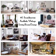 40 scandinavian aesthetic vintage living room design homedecort