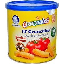 graduates snacks gerber graduates lil crunchies garden tomato 1 48 oz 42 g