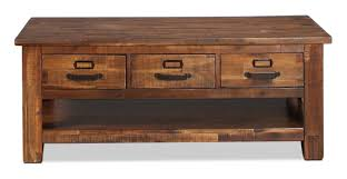 Coffee Tables With Drawers by Reign Coffee Table Distressed Medium Brown Levin Furniture