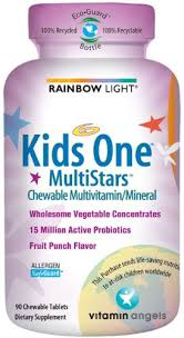 rainbow light kids one chewable tablets for children rainbow light kids one multistars