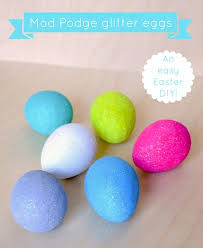 Big Easter Eggs Decorations by Easy Easter Decorations Glitter Eggs Mod Podge Rocks