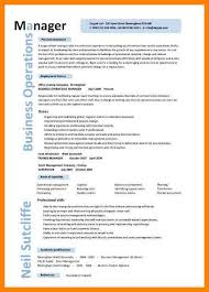 Operations Management Resume 8 Operations Management Resume Biodate Format